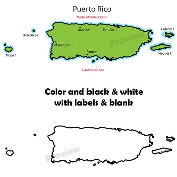 Puerto Rico Map Clip Art