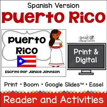 Puerto Rico Reader {en español} & Cut & Paste ~ Simplified for Language Learners
