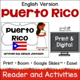 Puerto Rico Reader {in English} & Vocab Pages ~ Simplified for Young Learners