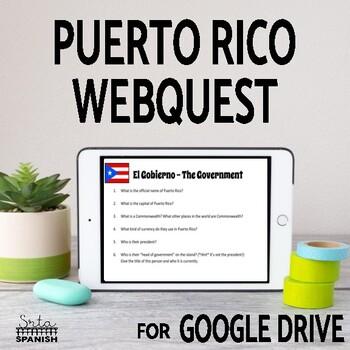 Puerto Rico Webquest: Online Interactive Activity