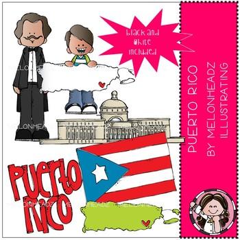 Puerto Rico clip art - Mini - Melonheadz Clipart