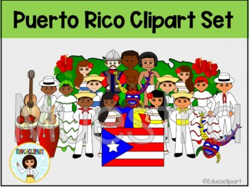 Puerto Rico clipart set - Color