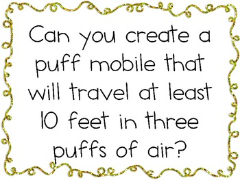 Puff Mobiles: Engineering Challenge Project ~ Great STEM Activity!