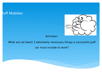 Physics Puff Mobiles Powerpoint
