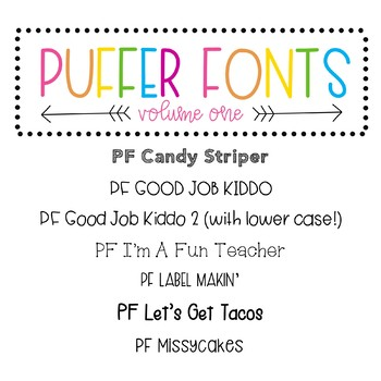 Puffer Fonts Volume One