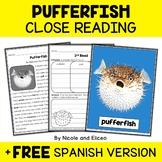 Pufferfish Close Reading Passage Activities