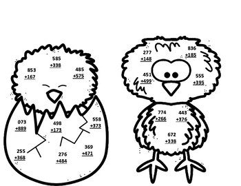 Puffin & Snowy Owl Life Cycle 3 Digit Addition/Subtraction Regrouping CRAFTS