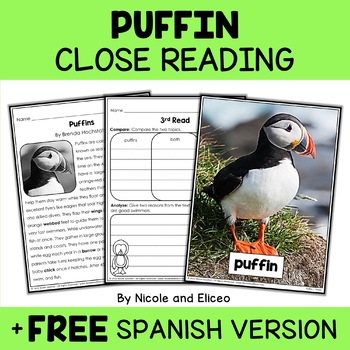 Close Reading Passage - Puffin Activities