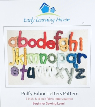 Puffy Fabric Letters Pattern by Early Learning Haven | TpT
