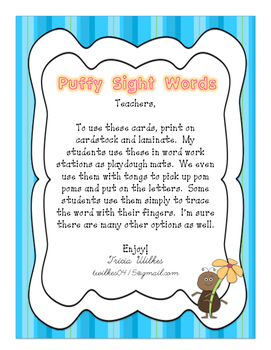 Puffy Sight Words