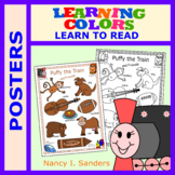 Puffy the Train: LEARNING COLORS: Posters