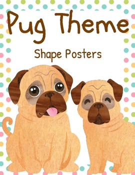 Pug Classroom Shape Posters