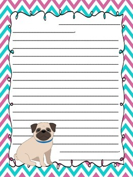 Pug Letter Writing Templates