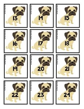 Pug Themed Calendar Pieces