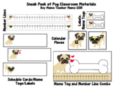 Pug Themed Classroom Materials