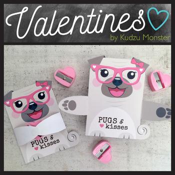 Pug Valentine Hugger-Girl