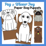 Pug and Wiener Dog Paper Bag Puppets to accompany Pig the