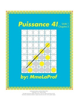 Puissance 4 Game: Beginner Level French: Unit 1: Chapter 2