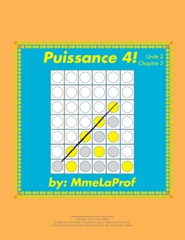 Puissance 4 Game: Beginner Level French: Unit 2: Chapter 3