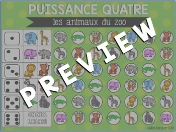 Puissance Quatre: Les animaux du zoo
