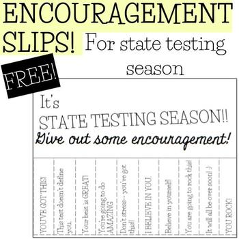 Pull A Slip Encouragement for State Testing