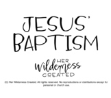 Pull-Out Craft | Jesus' Baptism | Christian Activities | Homeschool, church