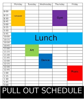 Pull Out Schedule