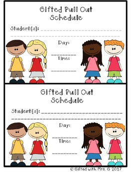 Pull Out Schedule Notices