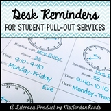 Pull-Out Student Desk Reminders