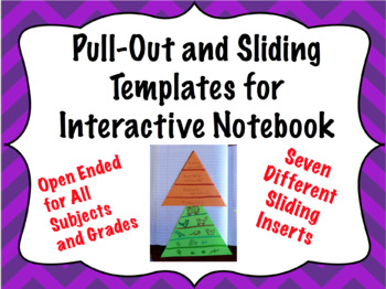 Foldable Pull-Out and Slide Templates For Interactive Notebooks