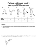 Pulleys Intro - A Guided Inquiry