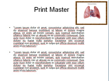 pulmonary embolism ppt templatetemplates vision | tpt, Presentation templates