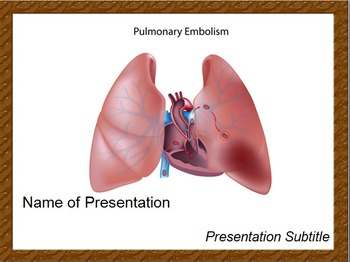 Pulmonary Embolism PPT Template