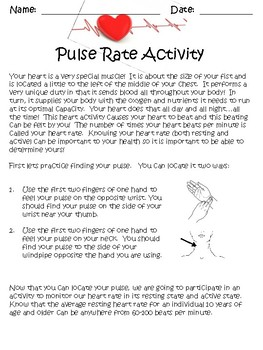 Pulse Rate Activity
