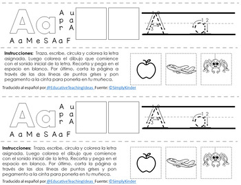 Pulseras del alfabeto manuscrito y cursivo