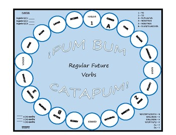 Pum Bum Catapum! Board Game – Regular Future Tense Verbs