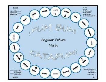 Pum Bum Catapum! Board Game – Regular Future Tense Verbs