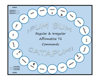 Pum Bum Catapum! Board Game – Regular & Irregular Affirmative Tú Commands