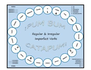 Pum Bum Catapum! Board Game – Regular & Irregular Imperfect Tense Verbs