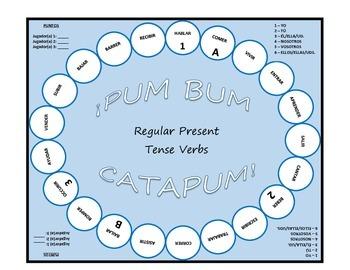 Pum Bum Catapum! Board Game – Regular Present Tense Verbs