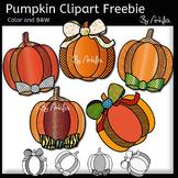 Pumpkin clip art- Color and B&W- 300 FOLLOWERS FREEBIE!