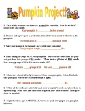 Elementary Pumpkin measurement! - Measuring, estimating, c