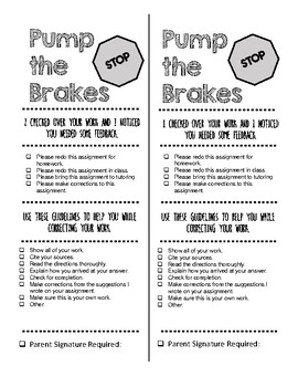 Pump the Brakes: Student Feedback Forms