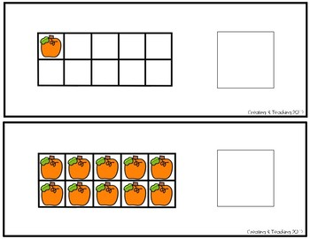Pumpkin 10 Frame Counting Interactive Book