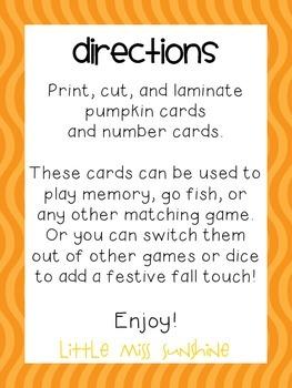 Pumpkin 10-Frame Match