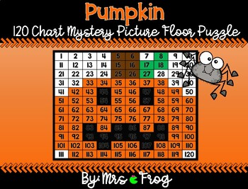 Pumpkin 120 Chart Mystery Picture Floor Puzzle