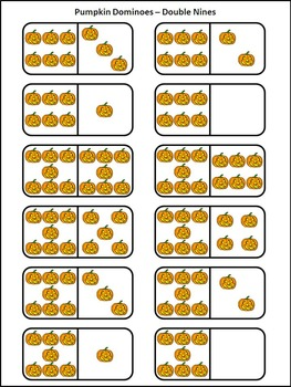 Halloween Math Activities: Pumpkin Dominoes Halloween Game Activity Packet