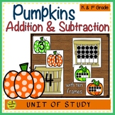 Pumpkin 2 Addend Addition & Subtraction With Ten Frames