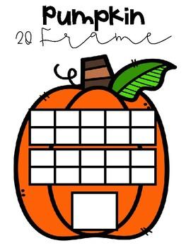 Pumpkin 20 Frame - October Math Center
