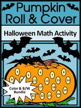 Pumpkin Activities: Pumpkin Roll & Cover Halloween Math Activity Packet